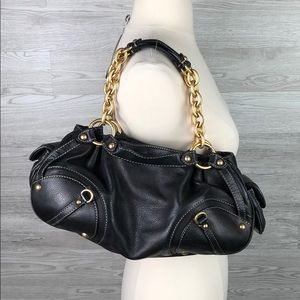 Juicy Couture Leather Handbag Black Shoulder